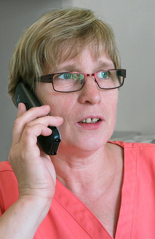 Ellen Warda, Arzthelferin, Hausarztpraxis B. Koch